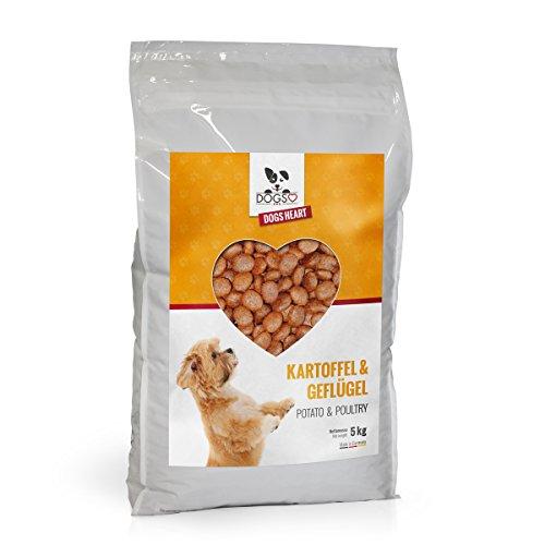 DOGS-HEART Geflügel & Kartoffel (5kg) Getreidefreies Hundefutter mit hohem Fleischanteil, Glutenfrei