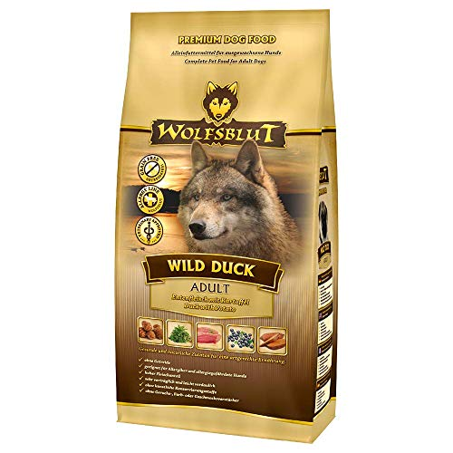 Wolfsblut | Wild Duck Adult | 15 kg | Ente | Trockenfutter | Hundefutter | Getreidefrei